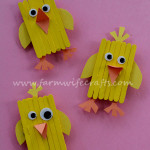 Popsicle Stick Chick Magnets