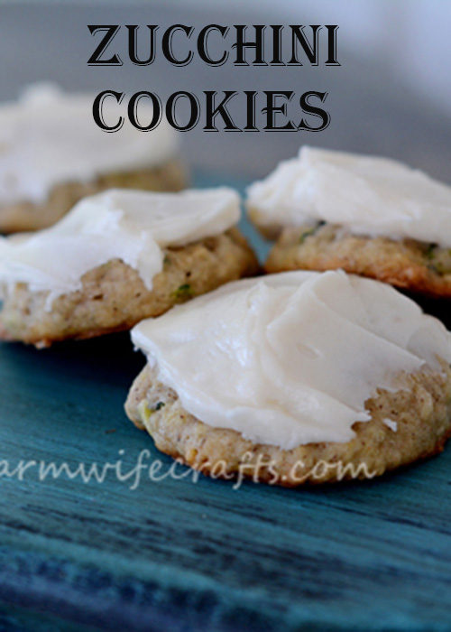 A yummy way to use up some of that zucchini in your garden. These zucchini cookies are a hit in our family!