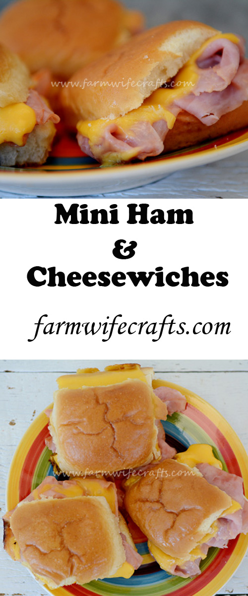 A simple twist on the boring old ham and cheese sandwich. Would be great paired with cheesy potato soup on a cool fall night.