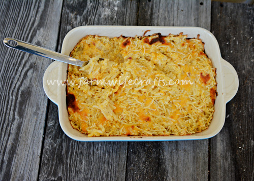 These cheesy potatoes are a quick and easy side dish that goes with almost every meal.