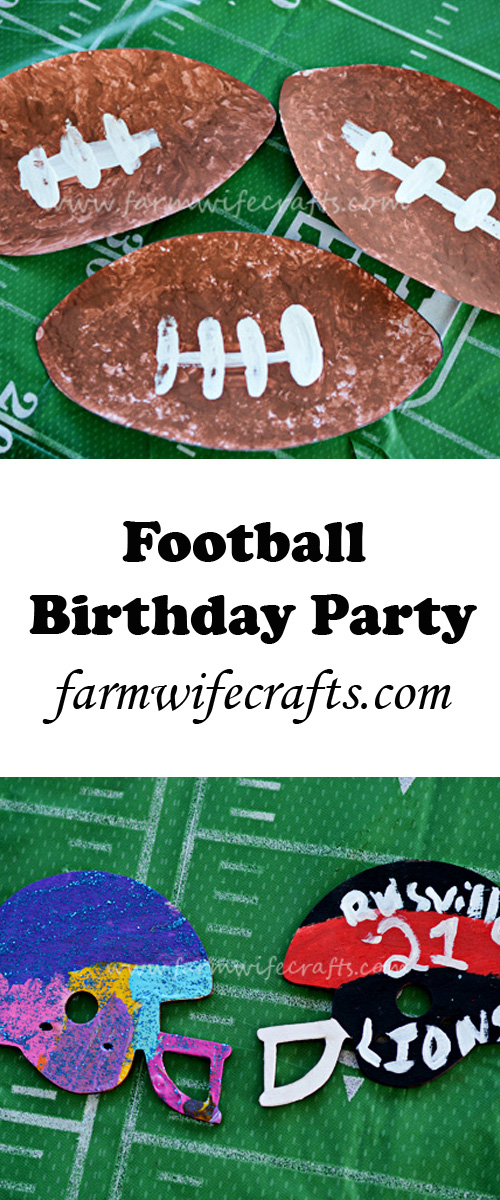 Football party craft and game ideas. Perfect for kids of all ages.