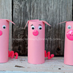 Toilet Paper Roll Pigs