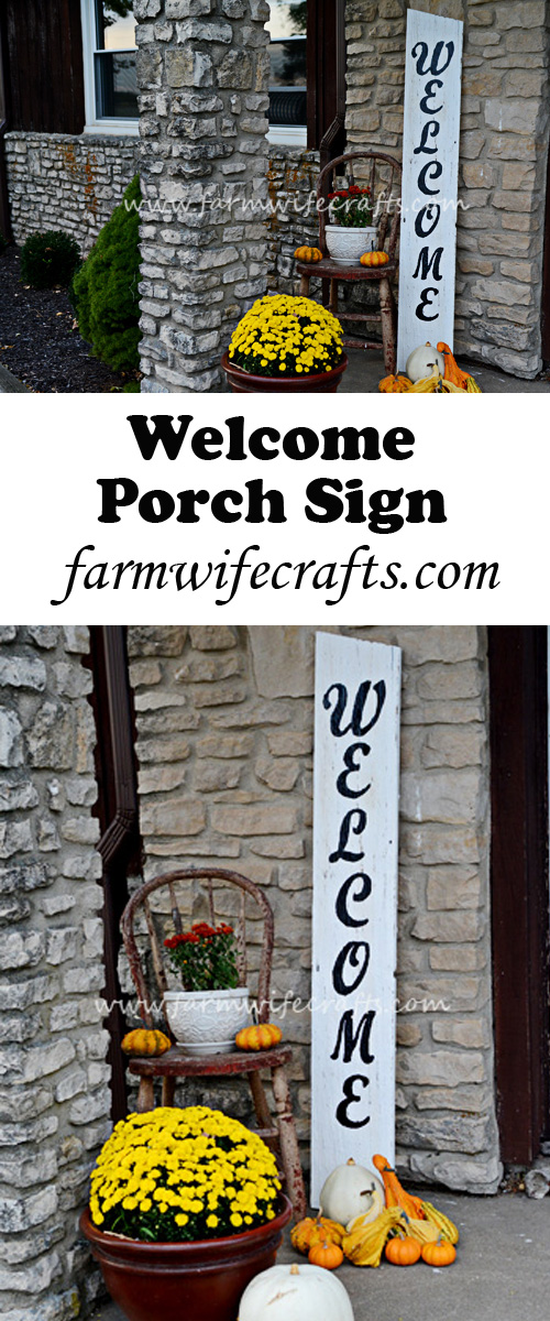 Dress up your front porch and make guests feel welcome with this DIY welcome porch sign.
