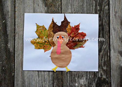Let the kids explore nature by finding the perfect leaves for this Leafy Turkey. A great Thanksgiving craft.