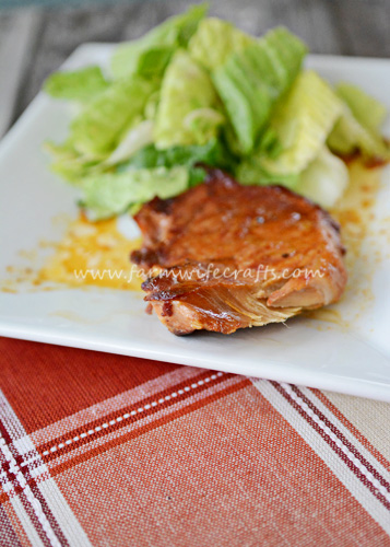 This pork chop delight recipe from Gooseberry Patch is only 4 ingredients and will please your family. It can even be made in the crockpot.