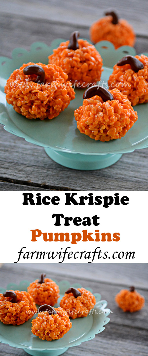Let your kids in the kitchen this Thanksgiving to make these Pumpkin Rice Krispie Treats