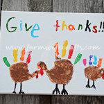 Hand Print Turkey Canvas