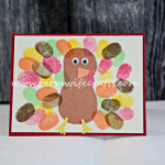 Fingerprint Turkey Card