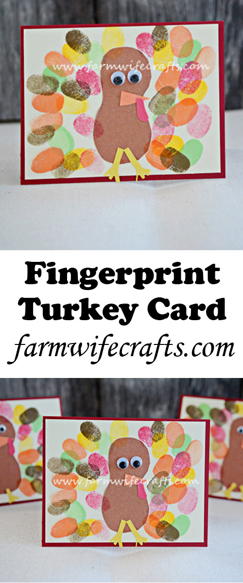 This Fingerprint Turkey card will put a smile on anyone's face this Thanksgiving.