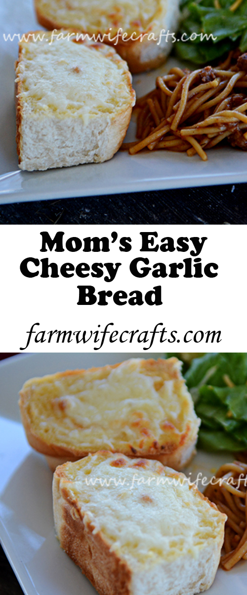 Switch things up on Pasta Night and make this Easy Cheesy Garlic Bread.