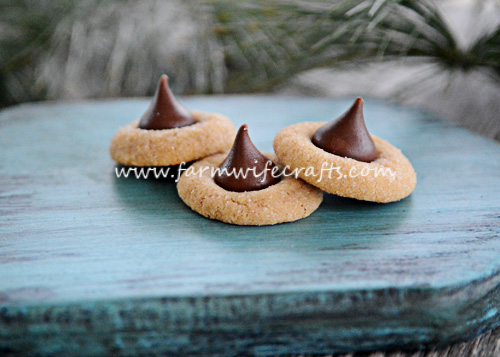 These peanut butter kisses are an easy and traditional Christmas cookie.