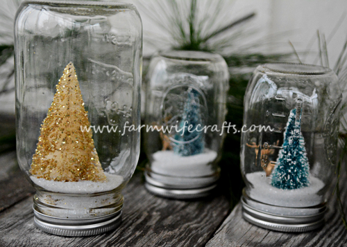An easy to make DIY snow globe. Perfect for gift giving.