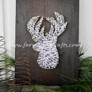 Reindeer String Art