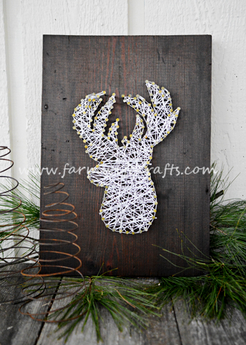 Reindeer string art the farmwife crafts - String art modele ...