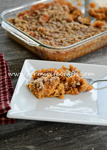 This sweet potato casserole is a favorite at our holiday gatherings.