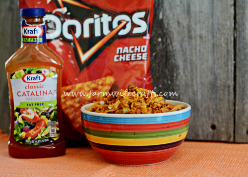 Do your kids love Doritos? They will love this taco salad that has their favorite chip mixed in!