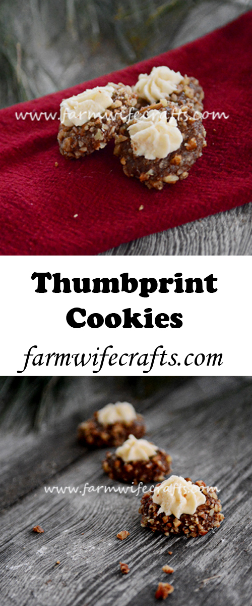 These Chocolate Thumbprint Cookies are a tradition in our family.