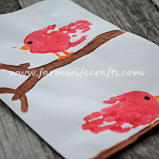 Red Cardinal Handprint Craft