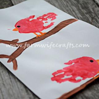 Red Cardinal Handprint Craft