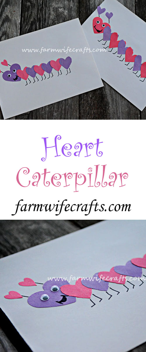 A simple and fun Valentine's craft for kids of any age. Make these heart caterpillars today.
