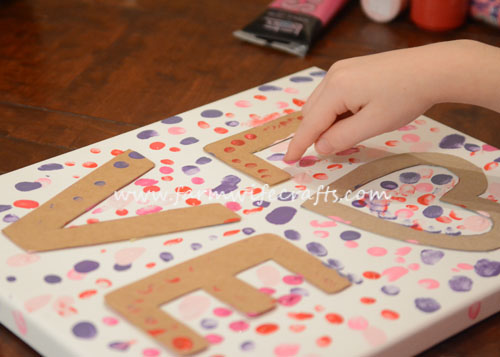 This fingerprint Valentine's Day Canvas will be memorable year after year!