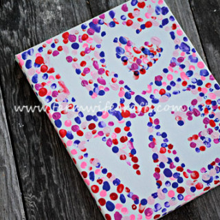 Valentine's Day Fingerprint Love Canvas
