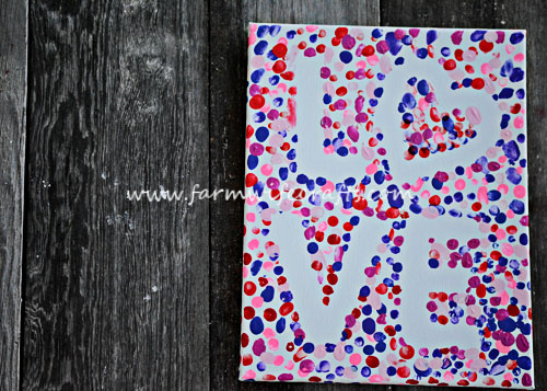 An Easy To Make Valentineu0027s Craft, This Valentines Day Fingerprint Love  Canvas Is Perfect To