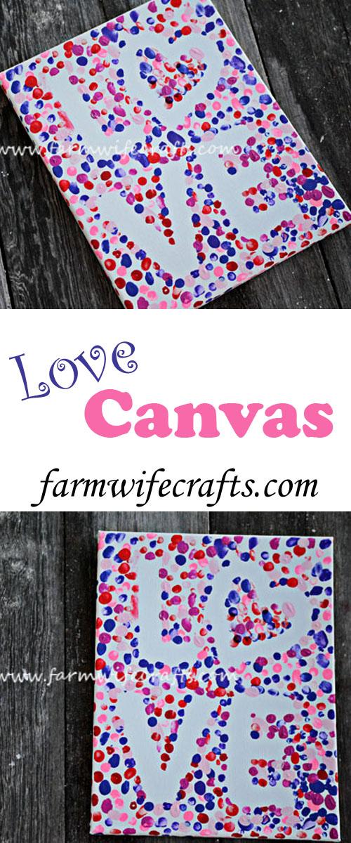 Valentine S Day Fingerprint Love Canvas The Farmwife Crafts