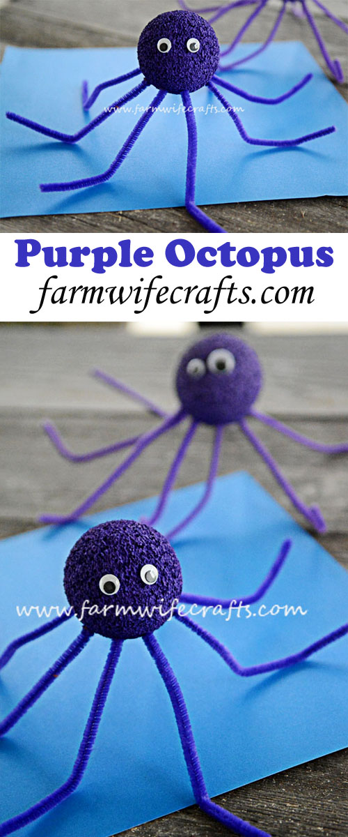 these purple octopuses are great for an ocean themed craft or school project.