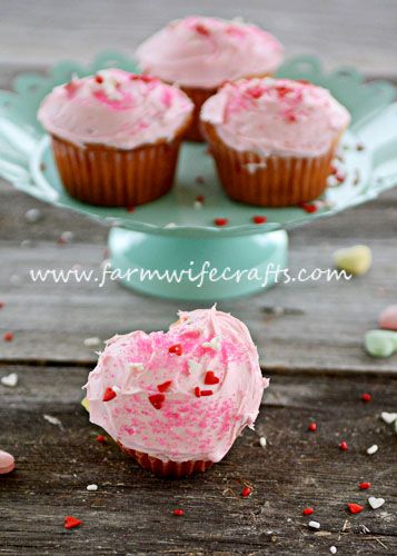 A simple Valentine's treat that your family will love, heart shaped cupcakes.