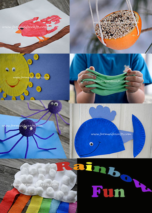 7 Rainbow crafts. Fun and easy to make rainbow themed crafts for St. Patrick's Day or any day of the year!
