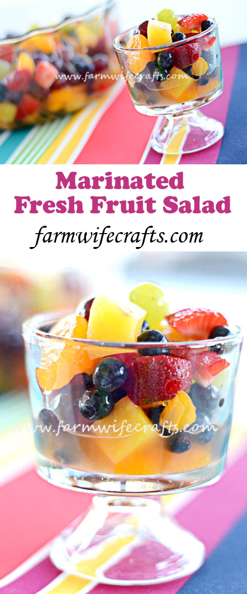 This Marinated Fresh Fruit Salad is the perfect summer time treat.