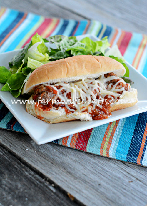 These Crockpot Meatball Hoagies from Gooseberry Patch's cookbook, Busy Day Slow Cooking are delicious and a great twist on Italian night!
