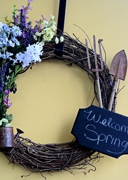 Add some Spring colors to your door with this DIY Spring Wreath.