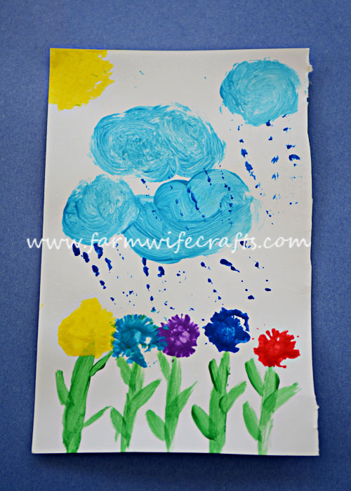 Make something fun and beautiful with those dandelions in the yard. Dandelion painting.