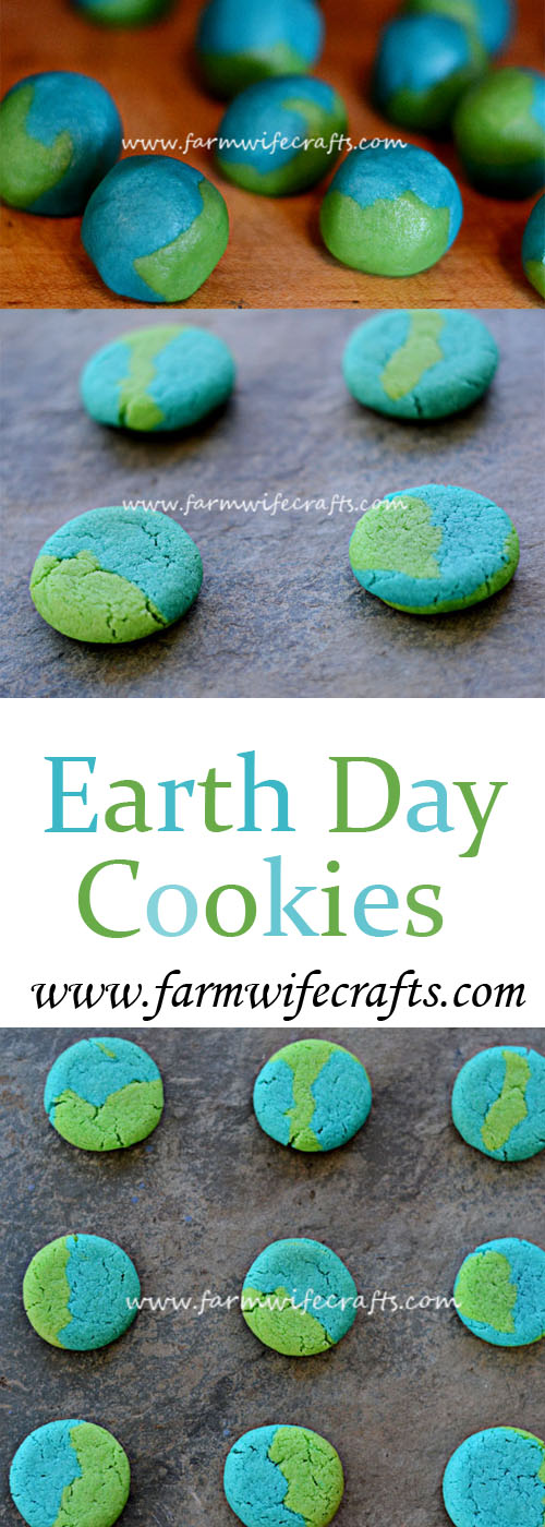 A fun Earth Day treat. These Earth Day cookies are sure to be a hit. Celebrate Earth Day everyday!