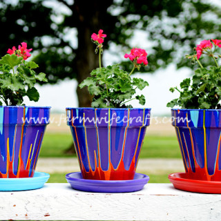 Rainbow Flower Pots