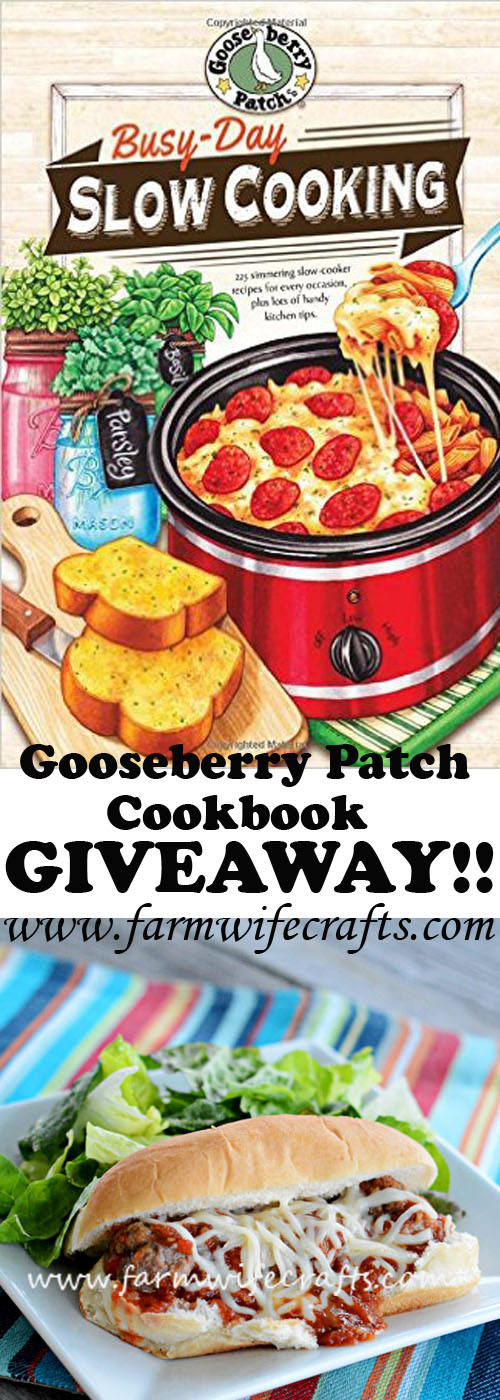 Gooseberry Patch's newest cookbook, Busy Day Slow Cooking Giveaway!!
