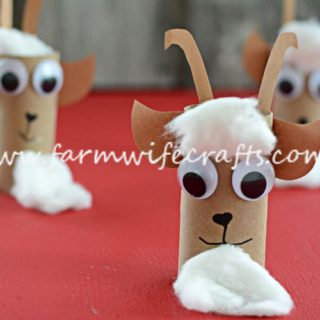 Toilet Paper Roll Goats