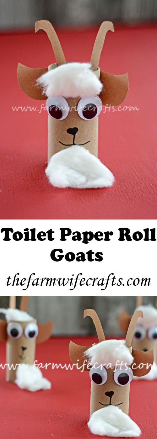 Teach kids about goats on the farm with this fun interactive toilet paper roll goat craft.