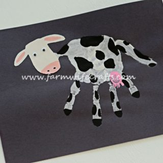 Handprint Dairy Cow Craft