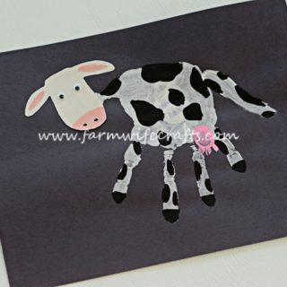 Handprint Dairy Cow Craft
