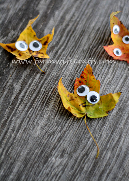 These googly eye leaf creatures are a quick and easy fall craft to make with your kids.