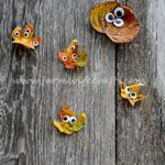 Googly Eye Leaf Creatures