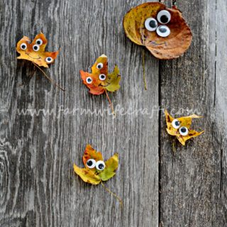 Googly Eye Leaf Creatures
