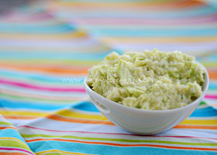 This Easy Creamy Coleslaw is only 2 ingredients and only takes 5 minutes to make.