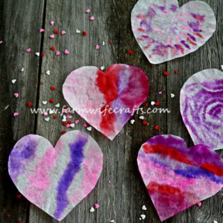 Coffee Filter Heart Suncatchers
