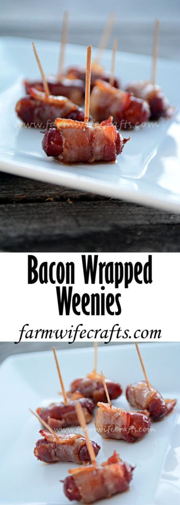 Looking for an easy and delicious appetizer for your next party? These Bacon Wrapped Smokies will be a hit and your guests will be begging for the recipe!