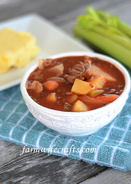 Slow Cooker Beef Stew by The Farmwife Crafts - Weekend Potluck 452