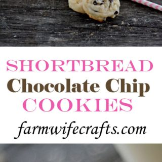 Who doesn't love a good chocolate chip cookie?  Maybe warm with a glass of ice cold milk?  If you are one of those people then you HAVE  to try this recipe for these delicious Chocolate Chip Shortbread Cookies!